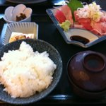 魚あき - ネギとろ定食