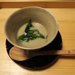御料理 貴船 - 鮎スープ(2016年5月24日ディナー訪問)