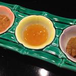 51473064 - 海老の味噌漬け、蛸のたまご、イカワタ