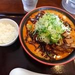 節系とんこつらぁ麺 おもと - トマト担々麺:大盛り+メンマ+ネギ増し