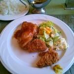 洋食キッチン シオン - 料理写真:若鶏ソテー生姜風味ほか