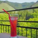 Cafe 茶楽 - しそジュース(しそスカッシュ?失念。。)