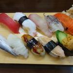 立ち喰い寿司 弁慶 - おこのみ10貫1100円(税込)