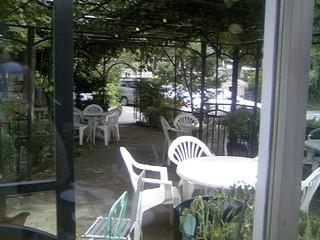 ドリームファーム - サンルーム席から見た庭