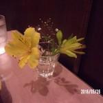 サンサール - ウラミラさんが飾った花1輪