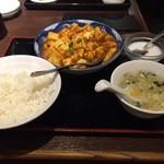 Chainadoru - 麻婆豆腐定食750円也。