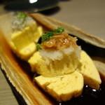 蒸し焼き ぶち - 黒つゆ出し焼き玉子¥450-