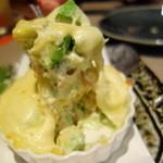 蒸し焼き ぶち - 蟹とアボカドのチーズ焼き¥550-