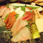ゆるり屋 - 刺身五種盛り(1680円)