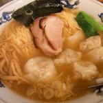 松波ラーメン店 - ワンタン麺2010.9