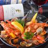 スペインバルヒスパニア - 料理写真:豪快に魚介を使ったパエリア