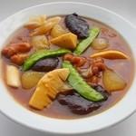 三和楼 - 鶏肉と冬瓜のオイスター煮込み(紅焼冬瓜)