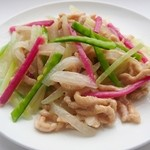 三和楼 - 冬瓜と豚肉の塩炒め(冬瓜肉絲)