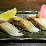 沖ちゃん - 炙りさば3貫にぎり(380円)