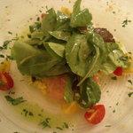 515053 - 金目鯛のカルパッチョとお米のサラダ仕立て