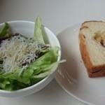 マーノカフェ - 5/27 シラス、野菜のサラダ(レモン風味のオリーブオイル)