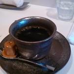 蕎麦 魯庵 - 食後のコーヒー(平日ランチのみ無料らしい)