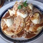 シマイロカフェ - 塩キャラメルバナナパンケーキ