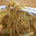 らーめん十倉 - 麺箸上げ