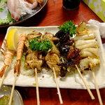 海鮮酒家 中山 - 海鮮串焼き