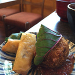 Cafe Samanala Garden - 実エンドウとひよこ豆のコロッケ