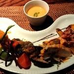 創作亭28 - 料理写真:前菜、スープ