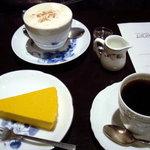 カフェ・トロワバグ - カフェ・ポンパドール、カボチャのムース、トロワブレンド