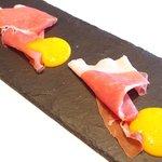 la Brianza - 無料サービス の生ハムとマンゴーソース