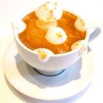 la Brianza - パスタランチ 1100円 のカプチーノ(3Dラテアート)