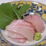 日本料理 宮本 - 真鯛昆布〆と魴鮄 (ほうぼう)