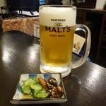 宇奈とと - 生ビールセット400円