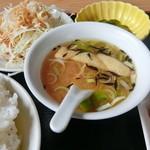 51526143 - 味噌ナスランチのスープ