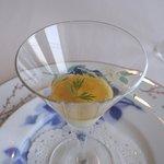 ミクニナゴヤ - 料理写真:白ニンジンのムース&コンソメゼリー