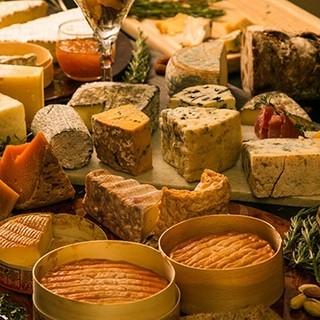 40種類の豊富なチーズで満足感のある二軒目を