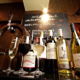 スパークリングワインも☆10種ワインバイキング