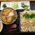 武蔵庵 - ミニかつ丼+胡麻だれうどん 1,260円。