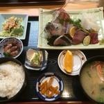 魚大将 - 旬盛り合わせ定食 1500円