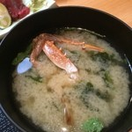 魚大将 - カニ入り味噌汁