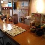 らー麺 藤平 - カウンター席