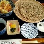 あずみの庵 - 天丼と熟成十割そばの細麺