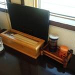 そば処 ひろ - テーブル/平成28年5月