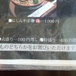 そば処 ひろ - メニュー/平成28年5月