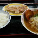 ポパイ - 餃子定食 醤油ラーメン