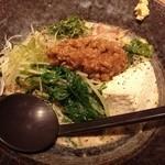 51547419 - 手作り汲上げ豆腐と夏野菜の冷製味噌麺