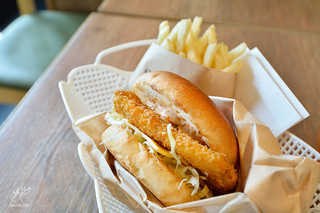 沼津バーガー - 深海魚バーガー SET 1100円