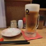 やきとり鳥清 竹 - 生ビール