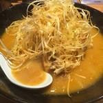 麺屋 國丸 - 北海道百年味噌  肉ネギラーメン  麺ハーフ