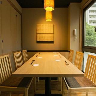 安心の完全個室(完全禁煙)をご用意。ご接待・会食に好評です。
