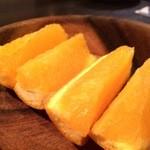 満月 - デザートのオレンジです