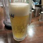 市屋麺 - 生ビール